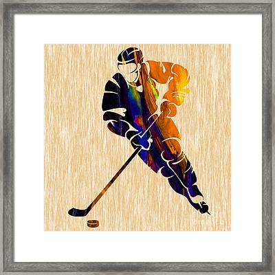 Ice Hockey Framed Print by Marvin Blaine