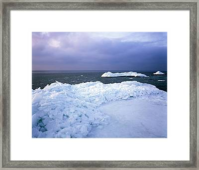Ice Hummocks Framed Print by Romeo Koitmae