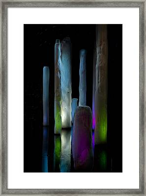 Ice Lighted Framed Print by Ivete Basso Photography