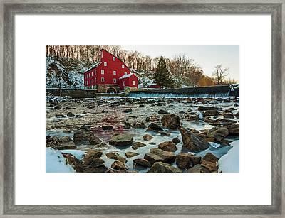 Ice Mill Framed Print by Kristopher Schoenleber