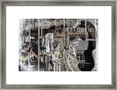 Ice On My Carousel Framed Print by Evie Carrier