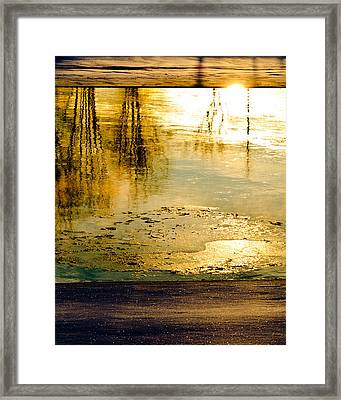 Ice On The River Framed Print by Bob Orsillo