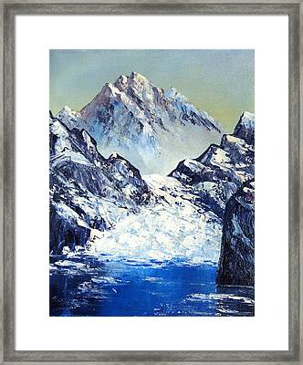 Ice On The Rocks Framed Print by Kenny Henson