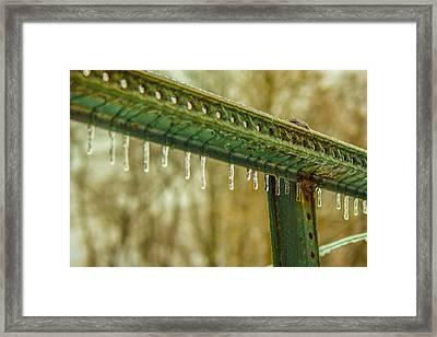 Ice Framed Print by Seth Harman