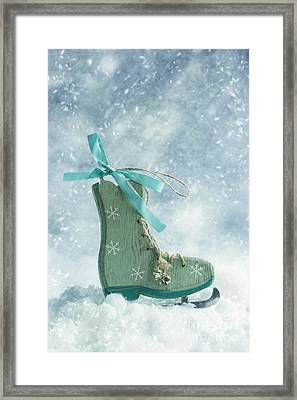 Ice Skate Decoration Framed Print by Amanda And Christopher Elwell