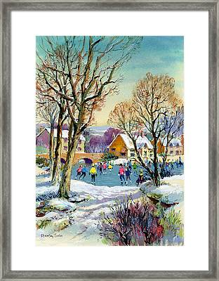 Ice Skating Framed Print by Stanley Cooke