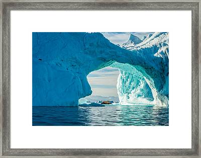 Iceberg Arch - Greenland Travel Photograph Framed Print by Duane Miller