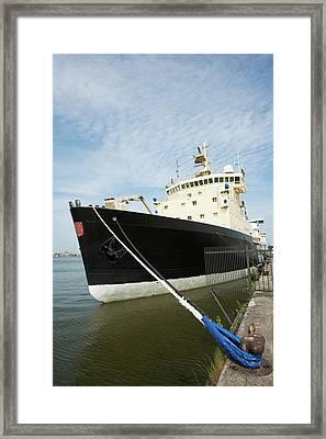 Icebreaker Ship Framed Print by Adam Hart-davis