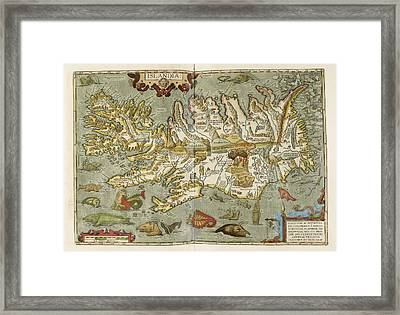 Iceland Framed Print by British Library