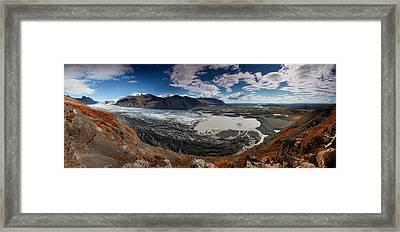 Iceland Skaftafell Framed Print by Nina Papiorek