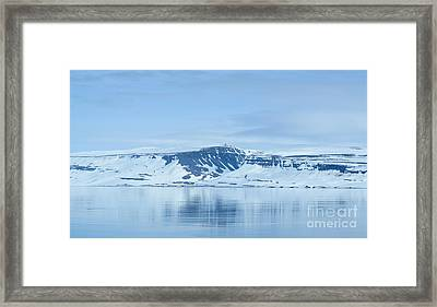 Iceland Winter Landscape Of Beautiful Mountains Covered In Snow  Framed Print by Aleksandar Mijatovic