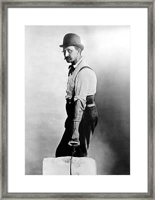 Iceman, C1891 Framed Print by Granger