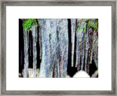 Icicles  Framed Print by Daniel Janda
