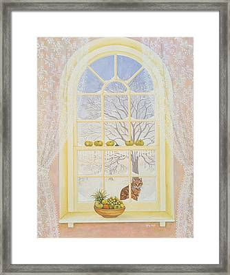 Icicles Framed Print by Ditz