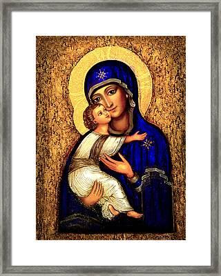 Icon Madonna Framed Print by Ananda Vdovic