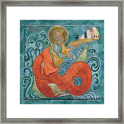 Icon Of Jonah And The Whale Framed Print by Juliet Venter