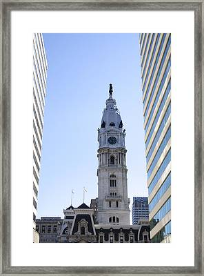 Icon Of Philadelphia - Cityhall Framed Print by Bill Cannon