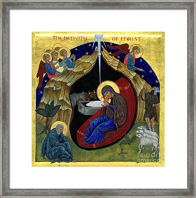 Icon Of The Nativity Framed Print by Juliet Venter