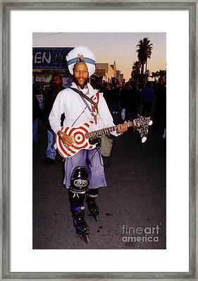 Icon Of Venice Beach California Framed Print by Halifax Artist John Malone