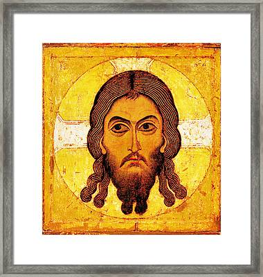Iconic Christ Framed Print by Gary Grayson