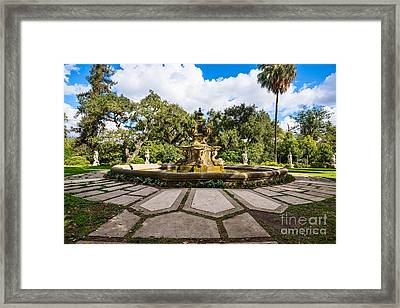 Iconic Fountain Framed Print by Jamie Pham