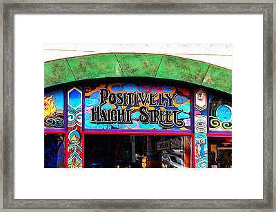 Iconic Haight-ashbury Framed Print by Art Block Collections