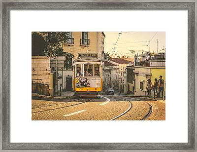 Iconic Lisbon Streetcar No. 28 Iv Framed Print by Marco Oliveira