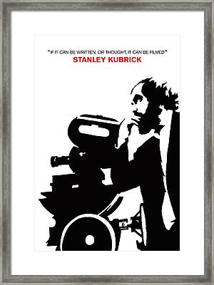 Iconic Stanley Kubrick Poster Framed Print by Kevin Trow