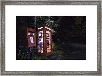 Iconic Uk Phone Box  Framed Print by Buster Brown
