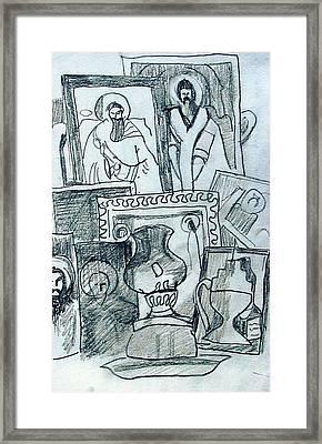 Icons Framed Print by Anita Dale Livaditis