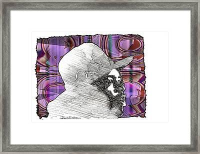 Icons - Jimi Hendrix Framed Print by Jerrett Dornbusch