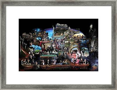 Icons Of History And Entertainment Framed Print by Ylli Haruni