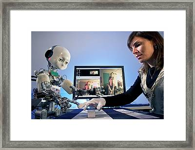 Icub Robot Framed Print by Philippe Psaila