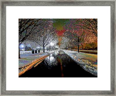 Icy Entrance To Keeneland Framed Print by Christopher Hignite