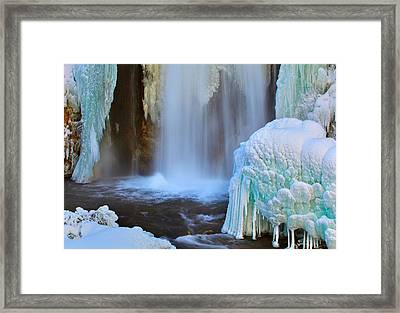 Ice Falls Framed Print by Kadek Susanto