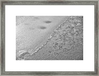Icy Lake Abstract Framed Print by Brian Mollenkopf
