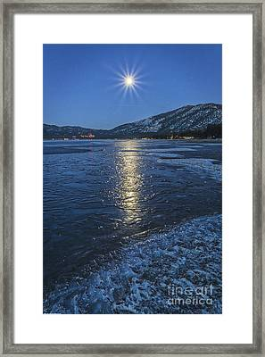 Icy Moonglow Framed Print by Mitch Shindelbower