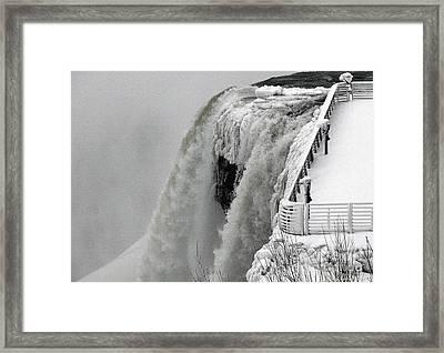 Icy Plunge At Niagara Falls Framed Print by Rose Santuci-Sofranko