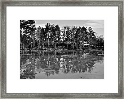 Icy Pond Reflects Framed Print by Frozen in Time Fine Art Photography