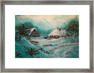 Icy Twilight Framed Print by Sharon Duguay