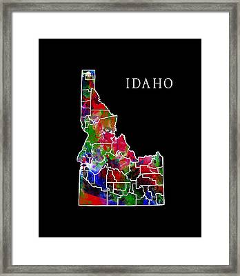 Idaho State Framed Print by Daniel Hagerman