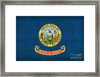 Idaho State Flag Framed Print by Pixel Chimp