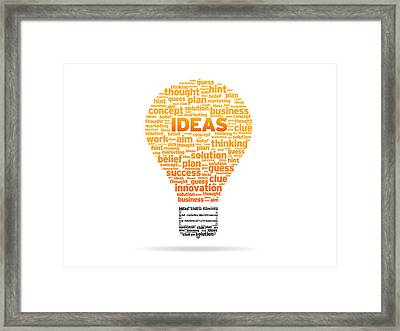 Ideas Framed Print by Aged Pixel