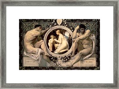 Idylle Framed Print by Gustav Klimt
