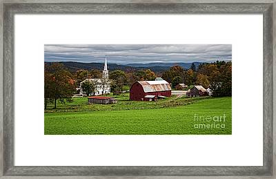 Idyllic Vermont Small Town Framed Print by Edward Fielding