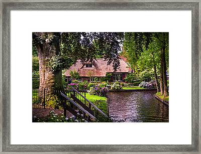 Idyllic Village 14. Venice Of The North Framed Print by Jenny Rainbow