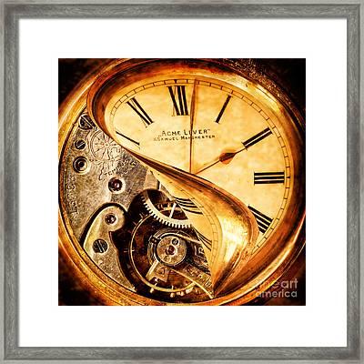 If I Could Turn Back Time Framed Print by Amanda Elwell