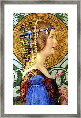 If One Could Have That Little Head Of Hers Framed Print by Eleanor Fortescue Brickdale