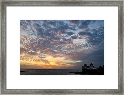 If Only Every Day Ended Like This Framed Print by Margaret Pitcher