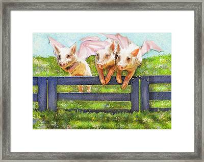 If Pigs Could Fly Framed Print by Jane Schnetlage